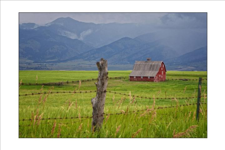Barn in Field-Bozeman, MT.