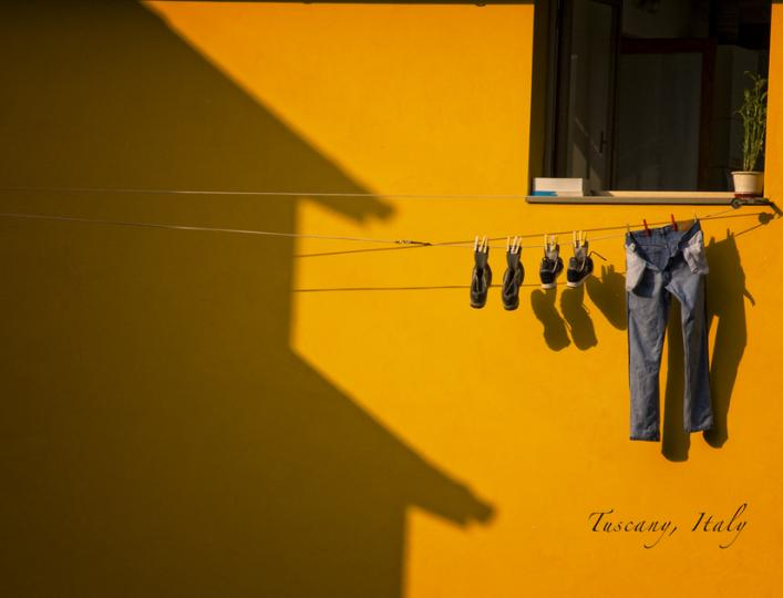 Laundry Day-Tuscany, Italy
